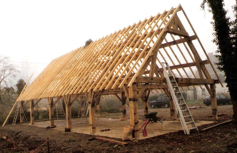 Le trait carr artisans bois morvan - Structure poteau poutre ...